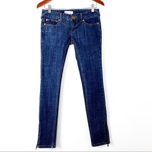 Free People Skinny Low Rise Ankle Jeans Size 25